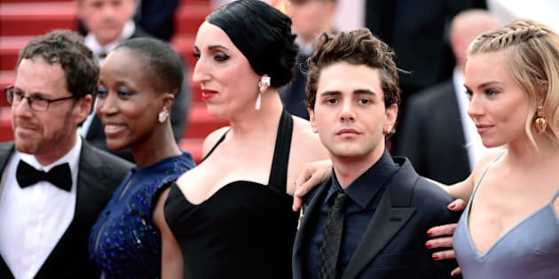CANNES, FRANCE - MAY 24: Offcial Jury Members Ethan Coen, Rokia Traore, Rossy de Palma, Xavier Dolan and Sienna Miller attend the closing ceremony and Premiere of 'La Glace Et Le Ciel' ('Ice And The Sky') during the 68th annual Cannes Film Festival on May 24, 2015 in Cannes, France.  (Photo by Ian Gavan/Getty Images)