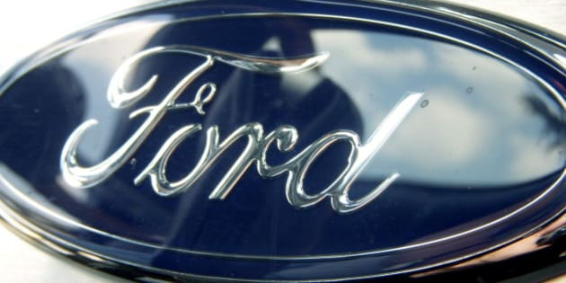 This is a Ford logo mounted to the dash of my dad's truck.