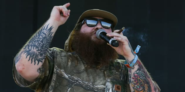 Action Bronson performs at the 2015 Coachella Music and Arts Festival on Friday, April 17, 2015, in Indio, Calif. (Photo by Rich Fury/Invision/AP)