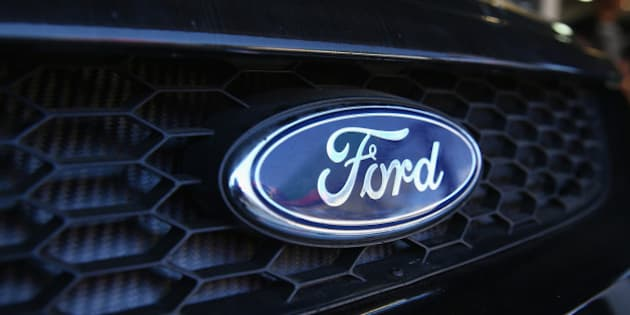 ADELAIDE, AUSTRALIA - FEBRUARY 26: A general view of the Ford logo ahead of the V8 Supercars Clipsal 500 at Adelaide Street Circuit on February 26, 2015 in Adelaide, Australia.  (Photo by Robert Cianflone/Getty Images)