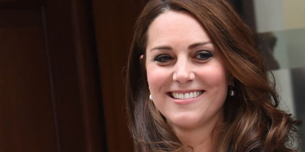 Photo by: KGC-03/STAR MAX/IPx 5/2/15 The Princess of Cambridge is seen outside the Lindo Wing of St. Mary's Hospital with her parents Prince William The Duke of Cambridge and Catherine The Duchess of Cambridge.  The Princess was born on Saturday, May 2nd, 2015 at 8:34 AM weighing 8lbs. 3oz. (Star Max/IPX via AP Images)