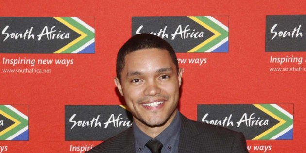 "IMAGE DISTRIBUTED FOR SOUTH AFRICAN TOURISM - Trevor Noah, acclaimed South African comedian and new host of ""The Daily Show"" on Comedy Central, poses at South African Tourism's sixth annual Ubuntu Awards, Monday, April 13, 2015, at the American Museum of Natural History in New York. (Photo by Jason DeCrow/Invision for South African Tourism/AP Images)"