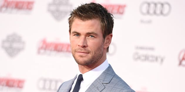 """Chris Hemsworth arrives at the Los Angeles premiere of """"Avengers: Age Of Ultron"""" at the Dolby Theatre on Monday, April 13, 2015. (Photo by Jordan Strauss/Invision/AP)"""