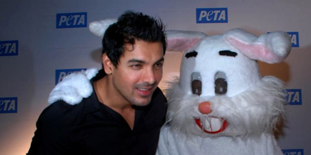 Indian Bollywood actor John Abraham attends the 'Asia�s Sexiest Vegetarian Awards' at the 10th Anniversary Gala of the India branch of People for the Ethical Treatment of Animals (PETA) in Mumbai on December 18, 2009. PHOTO/STR. (Photo credit should read STR/AFP/Getty Images)