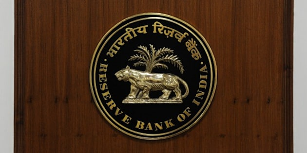 A logo of The Reserve Bank of India is pictured in New Delhi on August 10, 2014. AFP PHOTO/ SAJJAD HUSSAIN        (Photo credit should read SAJJAD HUSSAIN/AFP/Getty Images)