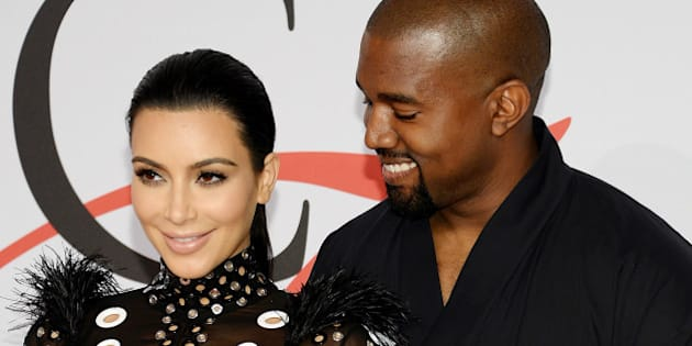 Kim Kardashian West and Kanye West arrive at the 2015 CFDA Fashion Awards at Alice Tully Hall on Monday, June 1, 2015, in New York. (Photo by Evan Agostini/Invision/AP)