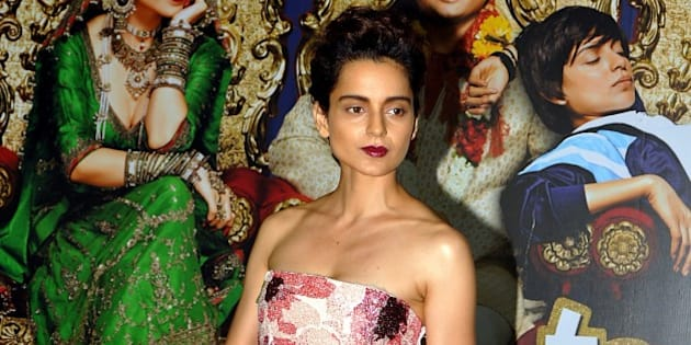 Indian Bollywood actress Kangana Ranaut poses for a photograph during a promotional event for the Hindi film 'Tanu Weds Manu Returns' in Mumbai on late June 9, 2015. AFP PHOTO / STR        (Photo credit should read STRDEL/AFP/Getty Images)