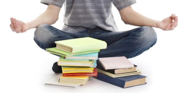 Teenager meditates on the books