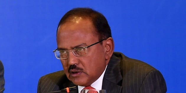 Indian National Security Advisor Ajit Kumar Doval delivers his speech during the Munich Security conference in New Delhi on October 21, 2014. The Munich Security conference (MSC) had its sixth MSC Core Group Meeting in New Delhi in cooperation with the Observer Research Foundation. Discussions will focus on security architectures in Europe and Asia. AFP PHOTO / PRAKASH SINGH        (Photo credit should read PRAKASH SINGH/AFP/Getty Images)