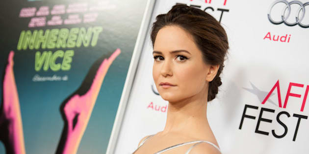 """Katherine Waterston arrives at 2014 AFI Fest - """"Inherent Vice"""" on Saturday, Nov 08, 2014, in Los Angeles. (Photo by Richard Shotwell/Invision/AP)"""