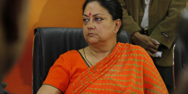 India's main opposition Bharatiya Janata Party (BJP) leader and chief ministerial candidate for Rajasthan state Vasundhara Raje, attends a meeting of the party after the victory in state Assembly elections in Jaipur, India, Monday, Dec.9, 2013. (AP Photo/ Deepak Sharma)