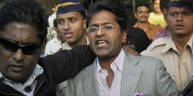 In this Tuesday, April 20, 2010 file photo, then Indian Premier League (IPL) Chairman Lalit Modi arrives at the airport in Mumbai, India. The Indian Premier League's governing council Monday appointed cricket board vice president Chirayu Amin as IPL's interim chairman in place of suspended chief Lalit Modi, who is facing an inquiry over allegations of corruption. (AP Photo) ** INDIA OUT **