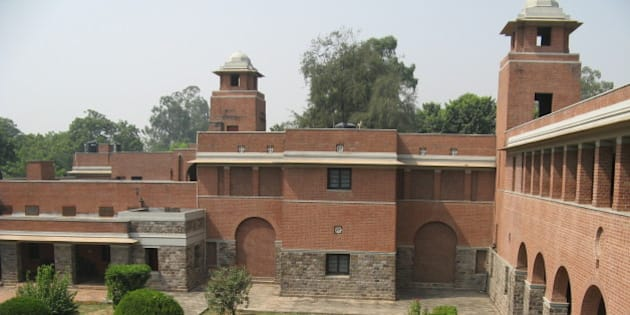 St. Stephen's College, Delhi. Rudra Court - Staircase N where I used to live; Vice-Principal's residence to the left.