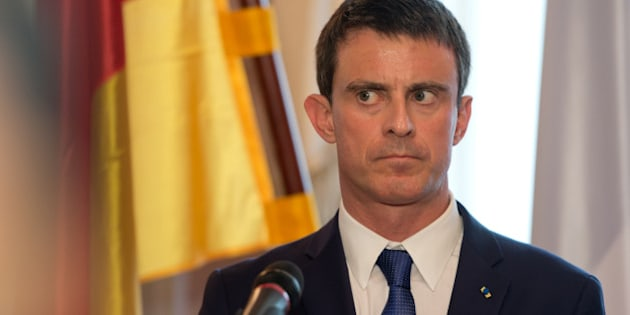 France's Prime Minister Manuel Valls listens to a question during a press conference after a meeting with Bavarian Governor Horst Seehofer in Munich, southern Germany, Thursday, May 21, 2015. (Sven Hoppe/dpa via AP)