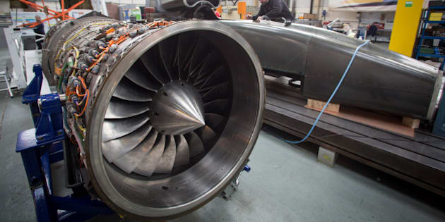 BRISTOL, ENGLAND - MARCH 05:  A jet engine is seen as engineers work on the carbon-fibre body  of the Bloodhound SSC vehicle currently taking shape at its design centre in Avonmouth on March 5, 2015 in Bristol, England. It is hoped that when finished, the Bloodhound SSC car, which is powered by a Eurofighter jet engine and a rocket, will break the current land speed record of 763mph or 1228km/h. Although the Bloodhound SSC is a private venture it has substantial in-kind support from the UK government and is being used as a education resource with the hope that it will encourage more pupils to follow science and technology-related courses.  (Photo by Matt Cardy/Getty Images)