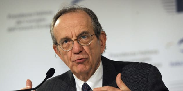 "Italian Finance Minister Pier Carlo Padoan speaks during a news conference in Milan, Italy, Saturday, Sept. 13, 2014. Pier Carlo Padoan told reporters at a meeting Saturday of finance ministers from the 28 EU nations that most of the resources for the envisioned investment fund would come from private sources. Padoan said the ministers were focusing on ways governments could leverage those investments. That could include incentives, regulatory simplification and better use of public money. Padoan said ""it is up to governments to facilitate private investments."" (AP Photo/Giuseppe Aresu)"