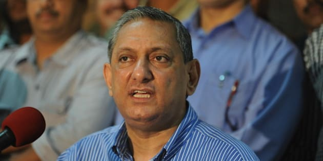 India's Maharashtra state's Anti-Terrorism Squad Chief Rakesh Maria gives a news conference in Mumbai on September 8, 2010. Indian police have arrested two men over a deadly restaurant bombing earlier this year, saying those in custody had links to Pakistan-based Islamists who allegedly masterminded the Mumbai attacks. Maria said the pair were picked up on September 6 and were to be questioned about the blast that ripped through the Germany Bakery in the western city of Pune killing 17. AFP PHOTO/ Punit PARANJPE (Photo credit should read PUNIT PARANJPE/AFP/Getty Images)