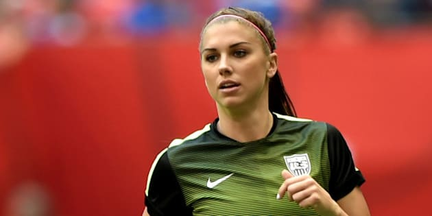VANCOUVER, BC - JUNE 16:  Alex Morgan #13 of the United States warms up before taking on Nigeria in the Group D match of the FIFA Women's World Cup Canada 2015 at BC Place Stadium on June 16, 2015 in Vancouver, Canada.  (Photo by Rich Lam/Getty Images)