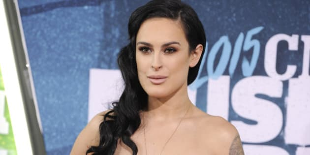 Rumer Willis arrives at the CMT Music Awards at Bridgestone Arena on Wednesday, June 10, 2015, in Nashville, Tenn. (Photo by Sanford Myers/Invision/AP)