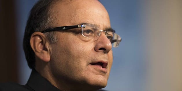 Indian Finance Minister Arun Jaitley speaks at American Enterprise Institute in Washington, DC, on June 19, 2015.   AFP PHOTO/JIM WATSON        (Photo credit should read JIM WATSON/AFP/Getty Images)