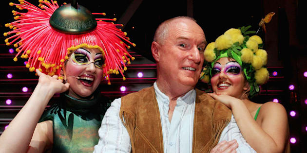 SYDNEY, AUSTRALIA - JUNE 20:  Actor Ray Meagher, in character as Bob the Mechanic, poses with the cast of 'Priscilla Queen Of The Dessert: The Musical' at the Lyric Theatre on June 20, 2007 in Sydney, Australia. Meagher, better know as his character Alf Stewart from Home & Away, plays the on-stage role from June 19 to July 1.  (Photo by Lisa Maree Williams/Getty Images)