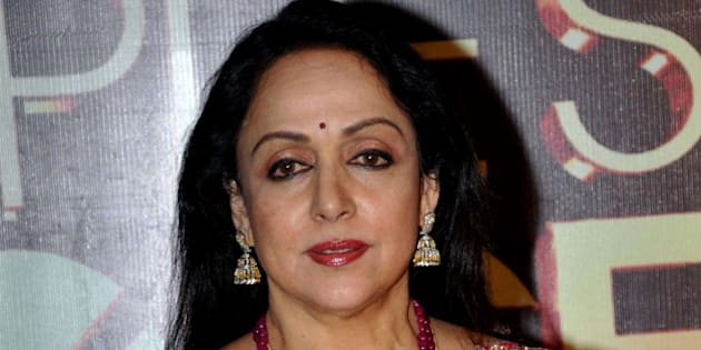 Indian Bollywood actress Hema Malini poses as she attends the 'People's Choice Awards' ceremony in Mumbai late October 27, 2012.   AFP PHOTO/STR        (Photo credit should read STRDEL/AFP/Getty Images)