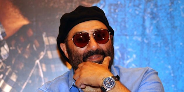 Indian Bollywood actor Sunny Deol looks on during a promotional event for the forthcoming Bollywood film 'Dishkiyaaoon' produced by Shilpa Shetty and directed by Sanamjit Singh Talwar in Mumbai on March 25, 2014. AFP PHOTO/STR        (Photo credit should read STRDEL/AFP/Getty Images)