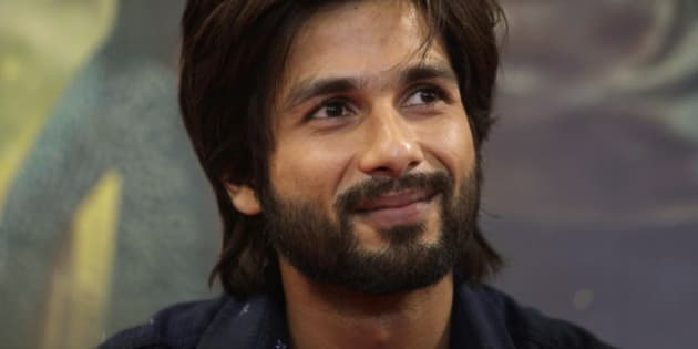 """Bollywood actor Shahid Kapoor attends a press conference to promote his upcoming movie """"R… Rajkumar"""" in Ahmadabad, India, Thursday, Nov. 28, 2013. The movie, a romantic comedy, will be released on Dec. 6. (AP Photo/Ajit Solanki)"""