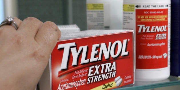 FILE - In this June 30, 2009 file photo, Tylenol Extra Strenth is shown in a medicine cabinet at a home in Palo Alto, Calif. Johnson & Johnson is expanding a recall of over-the-counter drugs Thursday, July 8, 2010, including Tylenol and Motrin IB because of a musty or moldy smell. (AP Photo/Paul Sakuma, file)