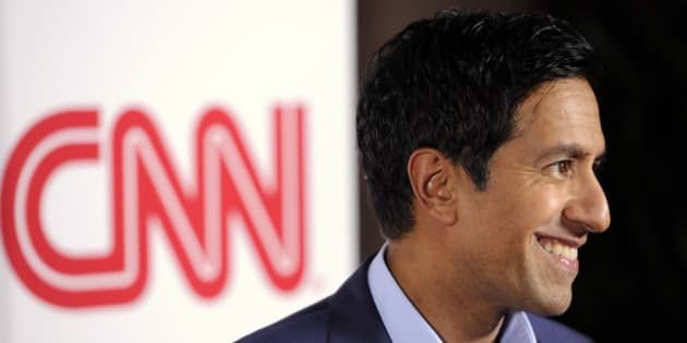 Dr, Sanjay Gupta of CNN poses at the CNN Worldwide All-Star Party, on Friday, Jan. 10, 2014, in Pasadena, Calif. (Photo by Chris Pizzello/Invision/AP)