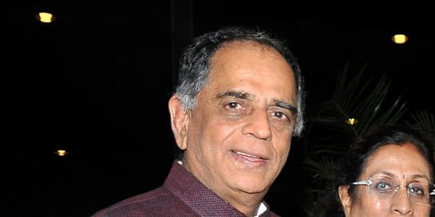 Indian Bollywood film producer Pahlaj Nihalani attends an event to honour politician and former finance minister Yashwant Sinha, who was conferred the Officer of the Legion of Honour in New Delhi earlier in the week, in Mumbai late on June 23, 2015.    AFP PHOTO        (Photo credit should read STR/AFP/Getty Images)
