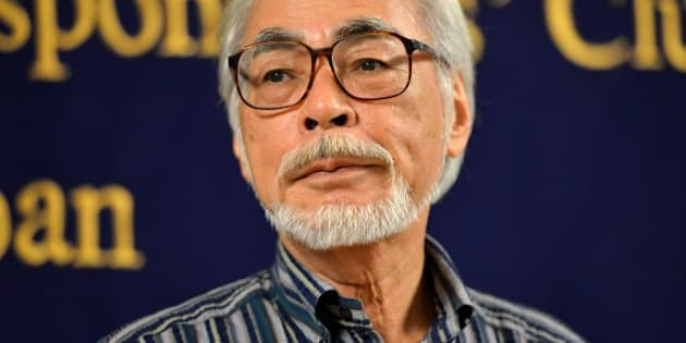 Oscar-winning Japanese animator Hayao Miyazaki speaks to the press in Tokyo on July 13, 2015.  Miyazaki is making a short animation movie with a character of a caterpillar, which will be screening at the Ghibli Museum in suburban Tokyo.   AFP PHOTO / Yoshikazu TSUNO        (Photo credit should read YOSHIKAZU TSUNO/AFP/Getty Images)