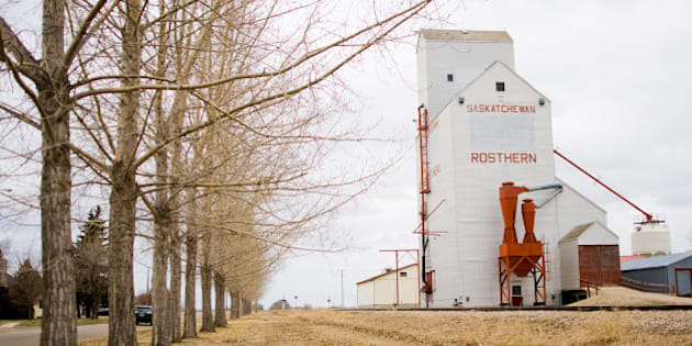 Grain elevator in Rosthern, Saskatchewan, a town of about 2,000 that's 45 minutes north of Saskatoon.