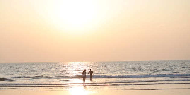 Goa, Beach, Sunset, India,