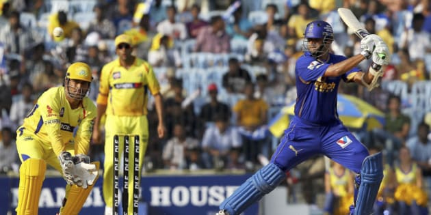 Rajasthan Royals' Rahul Dravid bats during the Indian Premier League (IPL) match against Chennai Super Kings in Chennai, India, Saturday, April 21, 2012. (AP Photo)