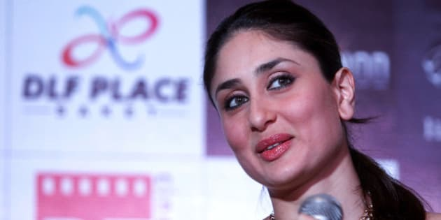 """Bollywood actress Kareena Kapoor speaks during a press conference for the promotion of her upcoming film """"Agent Vinod"""" in New Delhi, India, Sunday, Feb. 12, 2012. The spy movie in Hindi is scheduled to be released on March 23. (AP Photo/Tsering Topgyal)"""