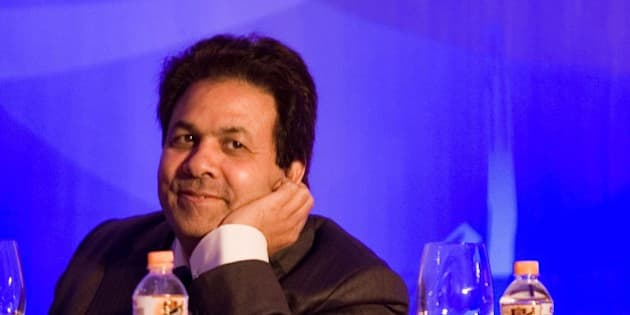 MUMBAI, INDIA - JANUARY 19:  Rajeev Shukla, chairman of the BCCI Media and Finance Committee attends the Indian Premier League Auction 2010 on January 19, 2010 in Mumbai, India.  (Photo by Ritam Banerjee/Getty Images)