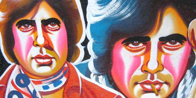 [Hand-painted Rickshaw Mudflap] Amitabh Bachchan in Ahmedabad.