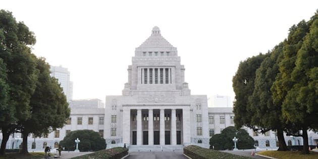 TOKYO, JAPAN - NOVEMBER 21:  General view of National Diet Building of Japan on November 21, 2014 in Tokyo, Japan. Japan Prime Minister Shinzo Abe dissolved the lower house of Parliament, postponed a planned sales-tax increase, ordered to prepare a stimulus package.  (Photo by Atsushi Tomura/Getty Images)