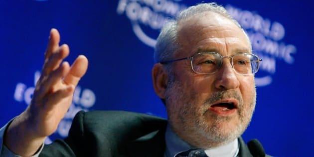 Joseph E. Stiglitz, Professor, Columbia University, USA, participates in a session at the World Economic Forum in Davos, Switzerland, Saturday, Jan. 31, 2009.(AP Photo/Keystone/Alessandro Della Bella)