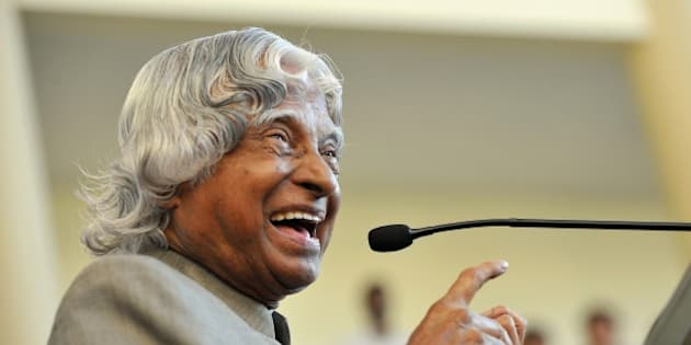 Former Indian president A.P.J. Abdul Kalam addresses the audience during the inauguration of the Centre of Excellence in High Speed Aerodynamics at the Indian Institute of Science in Bangalore on November 8, 2011. The former president held Abdul Kalam has backed the Koodankulam nuclear power project in Tamil Nadu after visiting and holding discussions with concerned officials on safety aspects while locals have intensified their protests saying they are not willing to enter into a dialogue with him. AFP PHOTO/Manjunath KIRAN (Photo credit should read Manjunath Kiran/AFP/Getty Images)