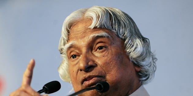 Former Indian president Abdul Kalam addresses the 'Energy Challenges in the Knowledge Based Economy' energy forum in Colombo on June 26, 2015. Kalam is on a two-day official visit to Sri Lanka. AFP PHOTO / ISHARA S. KODIKARA        (Photo credit should read Ishara S.KODIKARA/AFP/Getty Images)