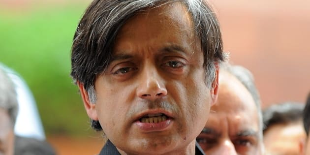 Indian Junior Foreign Minister Shashi Tharoor addresses the media at parliament house in New Delhi on April 16, 2010. Junior Indian Foreign Minister and former high-flying UN official Shashi Tharoor, 54, has been in the eye of a storm since the weekend when news broke that a friend, said by Indian media to be his girlfriend, had been given a free stake in a new IPL franchise. Tharoor has denied the allegations. AFP PHOTO/Prakash SINGH (Photo credit should read PRAKASH SINGH/AFP/Getty Images)