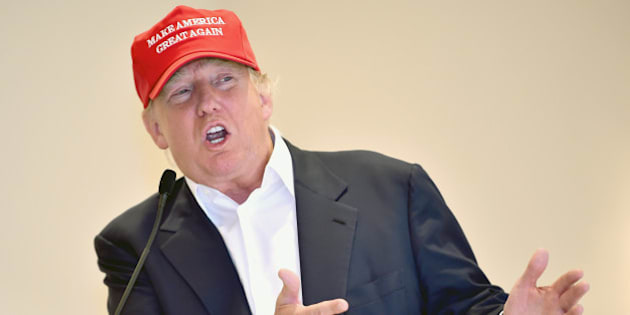 AYR, SCOTLAND - JULY 30:  Republican Presidential Candidate Donald Trump visits his Scottish golf course Turnberry on July 30, 2015 in Ayr, Scotland. Donald Trump answered questions from the media at a press conference.  (Photo by Jeff J Mitchell/Getty Images)