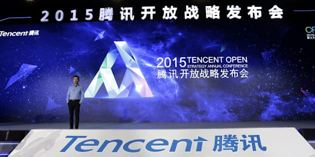 BEIJING, CHINA - APRIL 28:  (CHINA OUT) Ren Yuxin, chief operating officer of Tencent, speaks during the 2015 Tencent Open Strategy Annual Conference at National Convention Center on April 28, 2015 in Beijing, China. The 2015 Tencent Open Startegy Annual Conference got held at National Convention Center and COO of Tencent delivered a speech that Tencent would start new integration of resources to created more innovative and entrepreneurial platform for society. General Secretary of Internet Society of China Lu Wei, COO of Tencent Ren Yuxin, vice president of Tencent Mobile Business Group Lin Songtao and general manager of Tencent Open Platform Hou Xiaonan attended the conference.  (Photo by ChinaFotoPress/ChinaFotoPress via Getty Images)