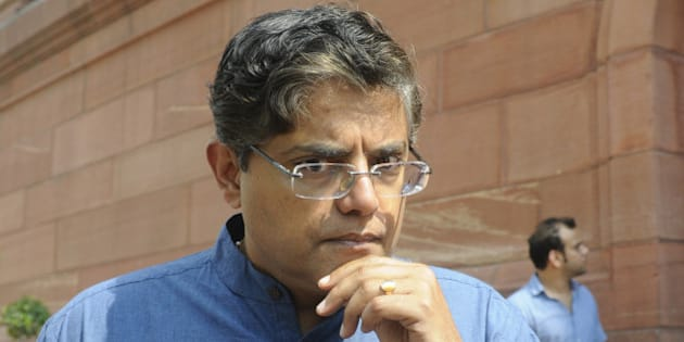 NEW DELHI, INDIA - JULY 27: BJD leader Jay Panda at Parliament House during the monsoon session on July 27, 2015 in New Delhi, India. Lok Sabha proceedings were repeatedly disrupted as the opposition once again raised the Lalit Modi and Vyapam issues, even as the speaker tried to conduct the business of the house. (Photo by Sushil Kumar/Hindustan Times via Getty Images)