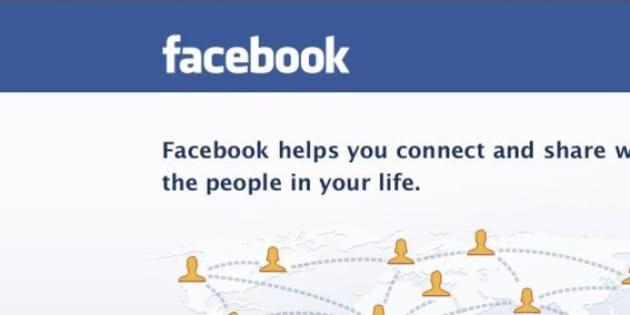 screenshot of facebook login page on my MAC