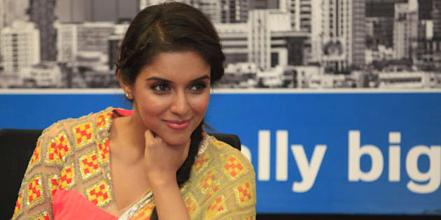 MUMBAI, INDIA - NOVEMBER 30: Indian bollywood actress Asin during the promotion of her upcoming film 'Khiladi 786' at HT Mahim office on November 30, 2012 in Mumbai, India. The film is scheduled to release on December 7, 2012. (Photo by Saroj Kumar Dora/Hindustan Times via Getty Images)