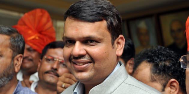 MUMBAI, INDIA  OCTOBER 28: BJP leader and Maharashtra Chief Minister designate Devendra Fadnavis on October 28, 2014 in Mumbai, India. (Photo by S Kumar/Mint via Getty Images)