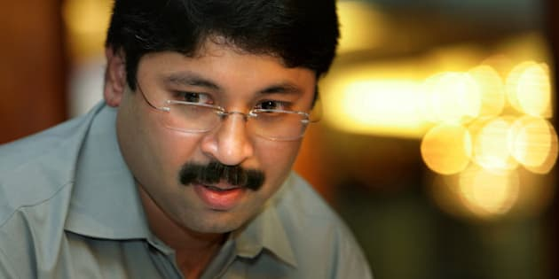 Indian Information Technology Minister Dayanidhi Maran arrives for a press conference in New Delhi, India, Wednesday, June 14, 2006. Maran unveiled the components of the country's National e-Governance Plan for easier access to government services. (AP Photo/Gurinder Osan)